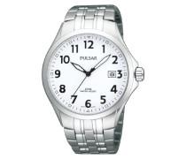 Uhren Armbanduhr Klassik Analog Quarz Edelstahl PS9091X1