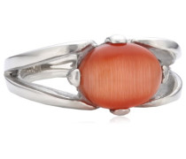 Damen-Ring Edelstahl Glas