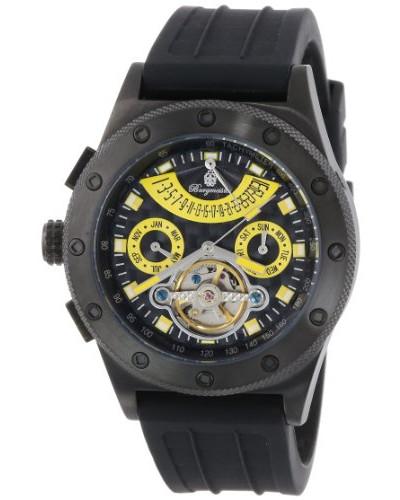 Armbanduhr für mit Analog Anzeige, Automatik-Uhr und Silikonarmband - Wasserdichte Herrenuhr mit zeitlosem