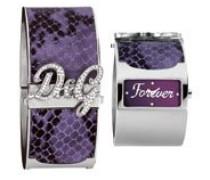 Damen-Armbanduhr Edelstahl/Leder medium