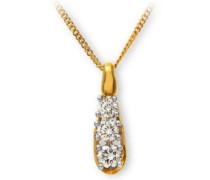 Damen Halskette Diamanten 0,5 Karat 46 cm