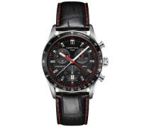 Armbanduhr XL Chronograph Quarz Leder C024.447.16.051.03