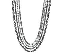 Halskette ohne Anhänger dreiteilig schwarz Metall Metall EANL20006B000