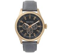 Analog Quarz Uhr mit Leder Armband NAPSTB003