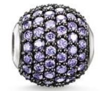 Bead Karma Beads 925 Sterling Silber Zirkonia violett K0112-643-13