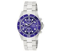 1769 Pro Diver Uhr Edelstahl Quarz blauen Zifferblat