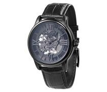 Longitude ES-8062-03 mechanische Armbanduhr, graues Zifferblatt mit Skelett-Anzeige