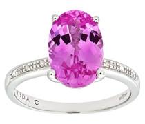 Verlobungsring 9 K 375 Weißgold Saphir Diamant
