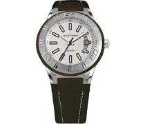 Armbanduhr Multi Zifferblatt Quarz Leder 1-1770F