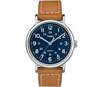 Erwachsene Analog Quarz Uhr mit Leder Armband TW2R42500JT