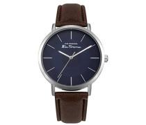 Datum klassisch Quarz Uhr mit PU Armband BS014UBR
