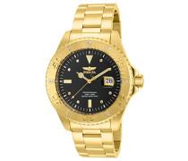 15286 Pro Diver Uhr Edelstahl Quarz schwarzen Zifferblat