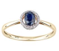 Ring 375 Gelbgold 9 K Saphir 0