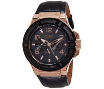 Herren-Armbanduhr Analog Quarz Leder W0040G5