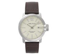 Datum klassisch Quarz Uhr mit Leder Armband NAPSYD003