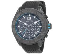 Chronograph Quarz Uhr mit Silikon Armband NAD25000G