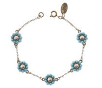 Daisy Armband Türkis Perlen 9,5 cm