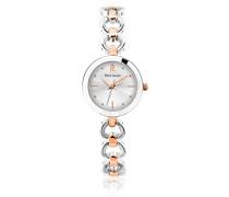 048l721 – Elegance Seduction Armbanduhr 045J699 Analog silber Armband Messing zweifarbig