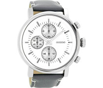 Herren Digital Quarz Uhr mit Leder Armband C8566