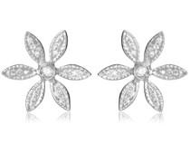 Ohrringe 18 Karat (750) Weißgold 2 Diamanten 0.3 Karat M0485P