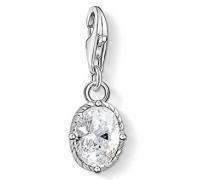 Anhänger weißer Stein 925 Sterling Silber 1674-051-14