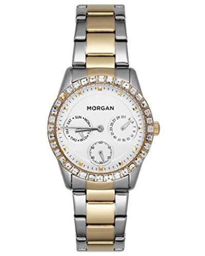 Multi Zifferblatt Quarz Uhr mit Edelstahl Armband MG 006S-4BM