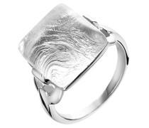 Damen-Ring 925 Sterling Silber Glas Glaskristall