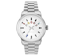 Chronograph Quarz Uhr mit Edelstahl Armband P10025