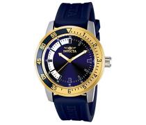 12847 Specialty Uhr Edelstahl Quarz blauen Zifferblat