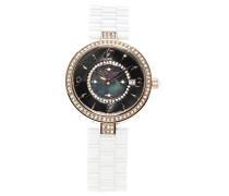 Armbanduhr - Analog Quarz - Premium Keramik Armband - Perlmutt Zifferblatt - Diamanten und Swarovski Elemente - STM15SM9