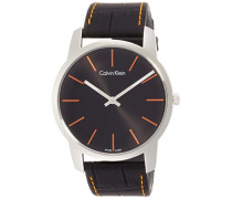 Analog Quarz Uhr mit Leder Armband K2G211C1
