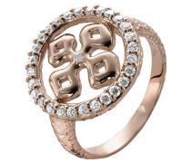 Damen-Ring 925 Silber Zirkonia Weiß