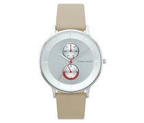 Multi Zifferblatt Quarz Uhr mit Leder Armband PL.15402JS/04