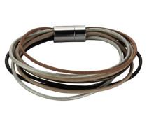 Stainless Steel Armband Leder 20cm Magnetverschluss 389060369-20