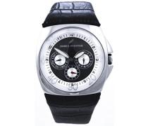 Herren-Armbanduhr Analog Quarz Leder DH03121NAN