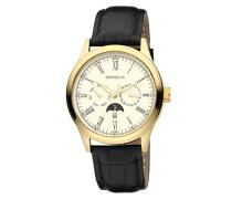 Herren-Armbanduhr Joyce Analog Quarz Leder