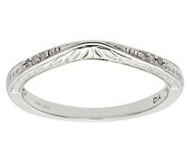 Damen-Ring 9 K 375 Weißgold Diamant 0,03 ct