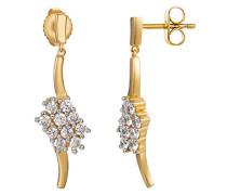 Ohrhänger 925 Sterling Silber rhodiniert Glas Zirkonia L'Éclair weiß S.PCER90244B000