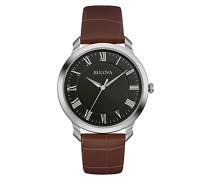 Classic 96A184 - Designer-Armbanduhr - Armband aus Leder - Elegantes Design - Braun/Schwarz