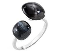 Ringe 925 Sterlingsilber mit Kissenschliff Katzenauge - Ringgröße 52 (16.6) SAKK33012