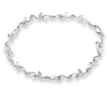 Armband Glieder 375 Weißgold rhodiniert Diamant 0,10 ct weiß Rundschliff 1