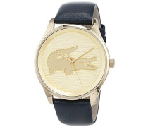 Datum klassisch Quarz Uhr mit Leder Armband 2000996