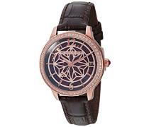 Skeleton Automatik Smart Watch Armbanduhr mit Leder Armband ES-8064-02