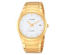 Uhren Armbanduhr XL Modern Analog Quarz Edelstahl beschichtet PS9130X1