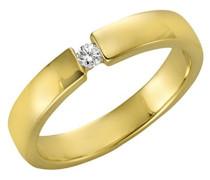 Diamonds by Ellen K. Ring 375 Gelbgold Diamant (0.05 ct) Brillantschliff weiß