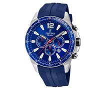 Chronograph Quarz Smart Watch Armbanduhr mit PU Armband F20376/1
