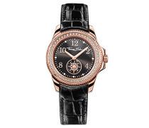 Armbanduhr Glam Chic Rosegold Schwarz Analog Quarz