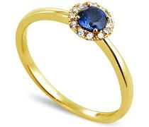 Ring 18 Karat (750) Gelbgold Saphir-badm 07052-0001