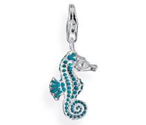 Charm Seepferdchen mit Brandlack in 925 Sterling Silber HB 133