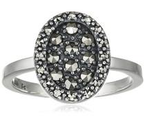 Ring 925 Silber vintage-oxidized Markasit 58 (18.5) - L0089R/90/B3/58
